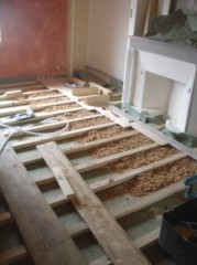 Mise jour de l 39 isolation phonique et pose de parquet conologique et - Isolation phonique plancher bois existant ...